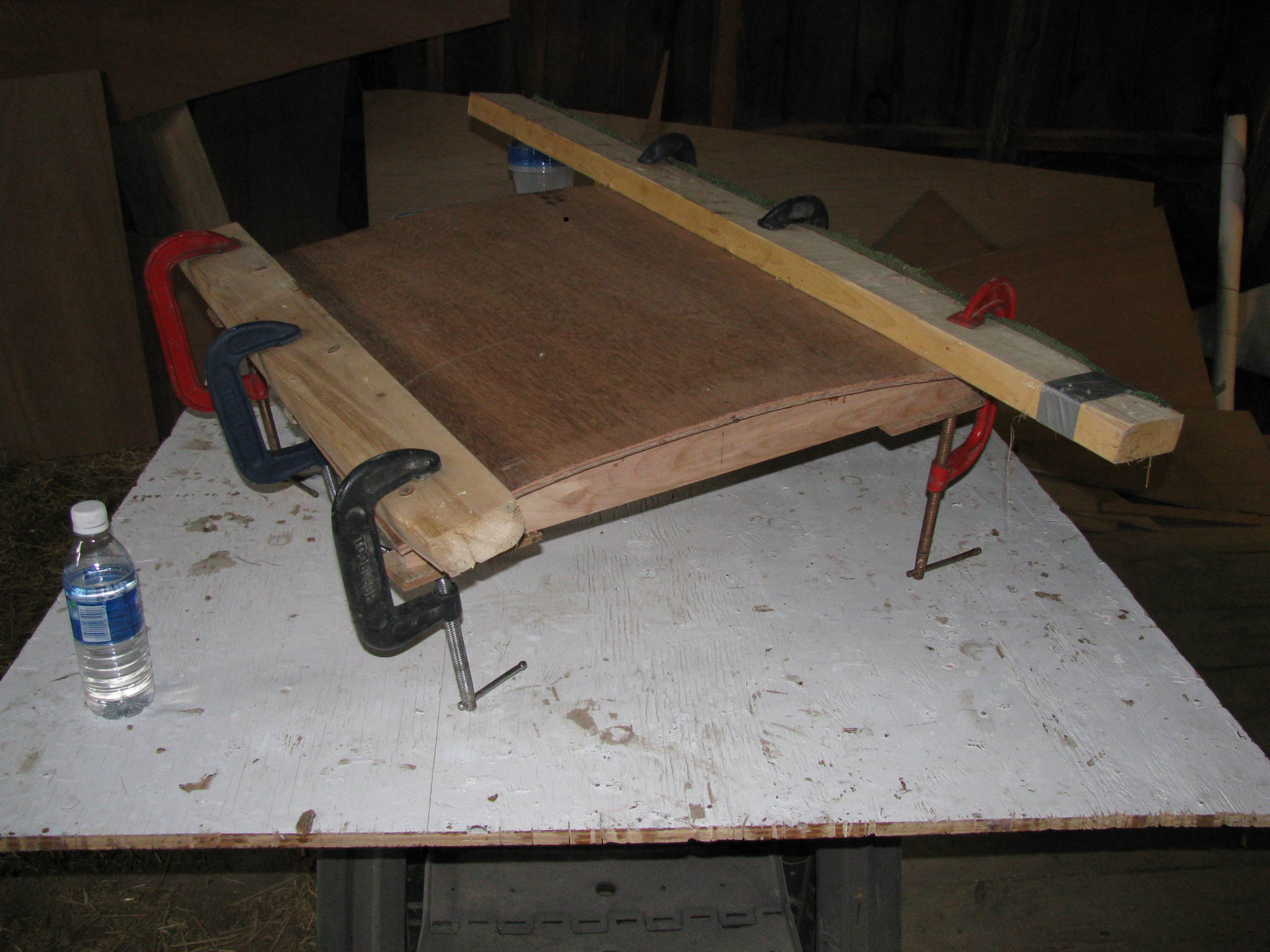 gluing the companionway hatch
