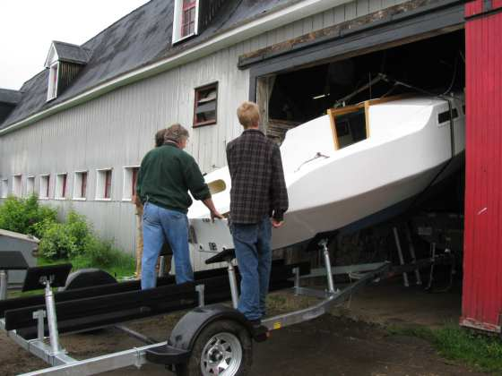 boat coming down from the hayloft